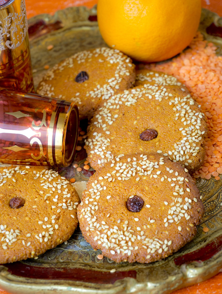 biscuits lentilles corail